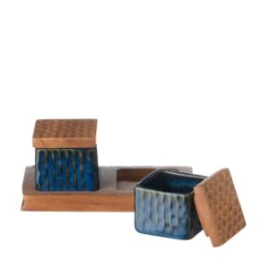 condiment dish hammered jenggala wooden tray