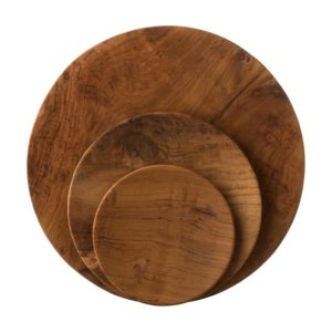 jenggala plates dinner set teakwood