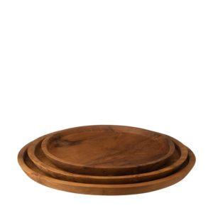 jenggala teakwood tray set wooden tray
