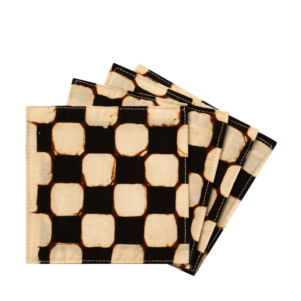 Coaster Batik brown Set 4