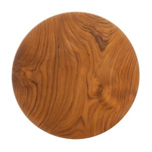 round plate wooden wooden plate