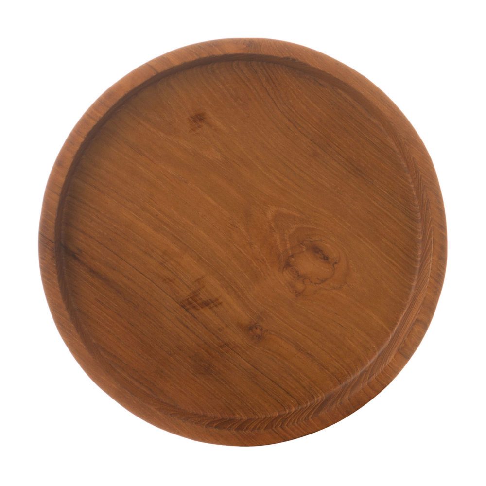 SMALL WOODEN ROUND TRAY
