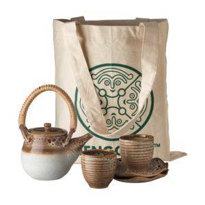gift set japanese set jenggala safari beige tea pot set