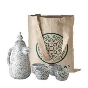 arya pandjalu bird tea pot jenggala tea set