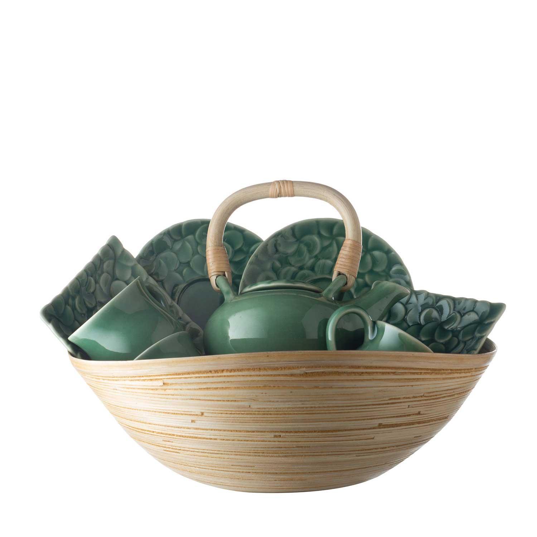 frangipani tea set