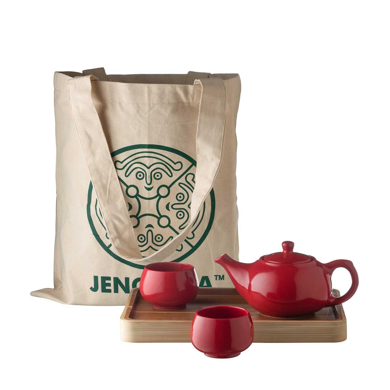 tea set with tray