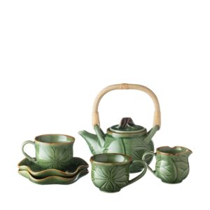 lotus collection tea cup tea set teapot