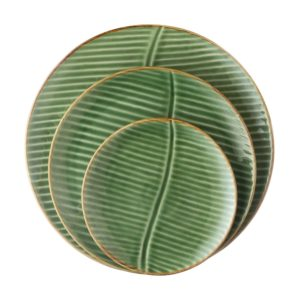 banana leaf collection dinner set round plate