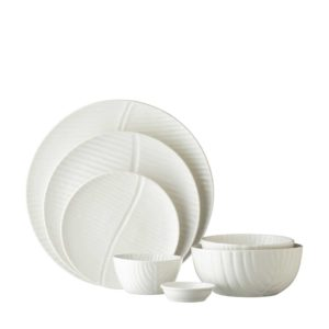 banana leaf collection ceramic bowl dining round plate