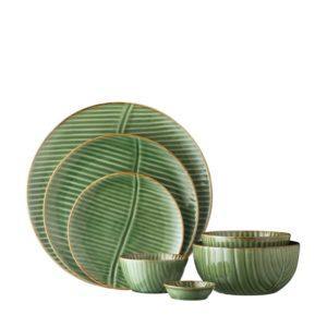 banana leaf collection ceramic bowl ceramic plate dining