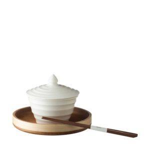 chopstick round tray soup bowl