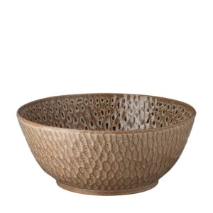 hammered collection jenggala artwork ceramic serving bowl