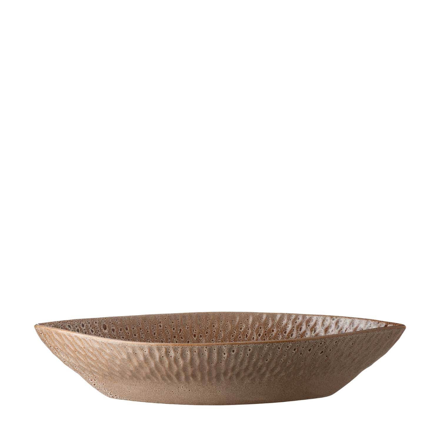 hammered oval bowl