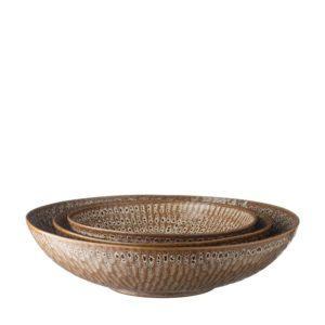 hammered collection serving bowl set