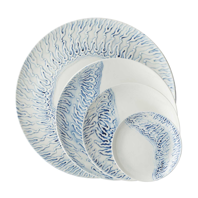 batik parang plate set