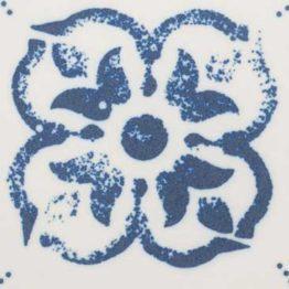 Satin Floral Indigo