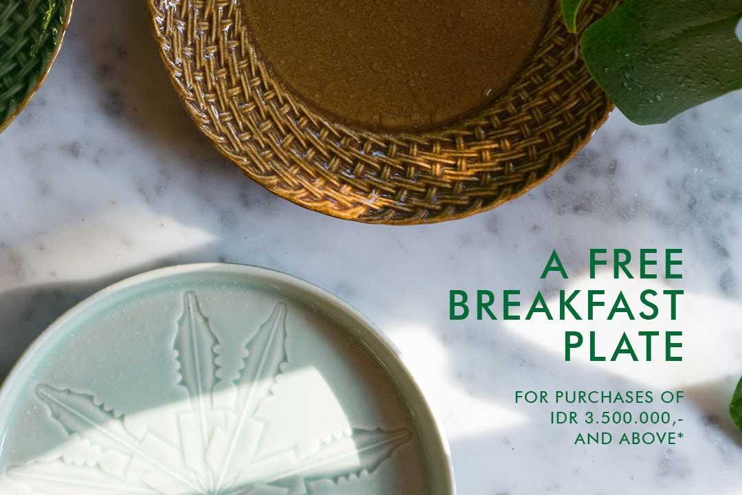 A Free Breakfast Plate