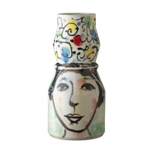 flower vase jenggala artwork ceramic