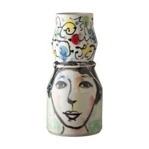 flower vase jenggala artwork ceramic