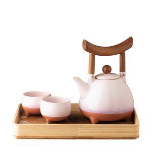 jenggala artwork ceramic tea set