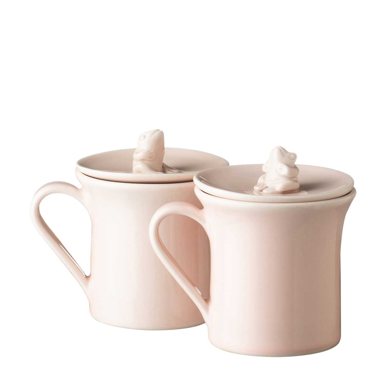 Couple Mug With Frog Lid