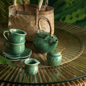 frangipani collection teapot set