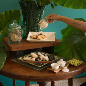 dessert plate frangipani collection frangipani set