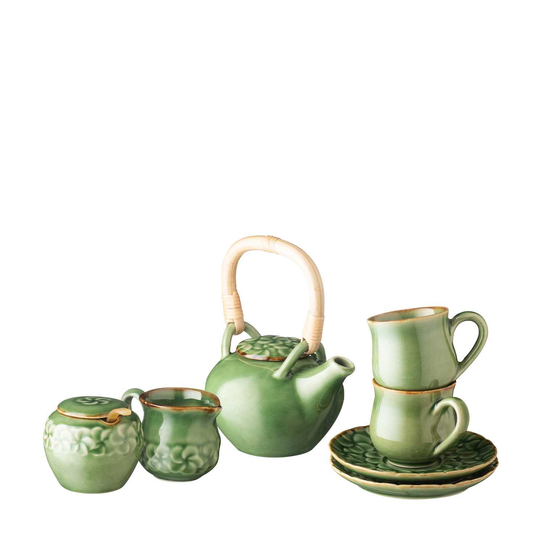 small frangipani teapot set