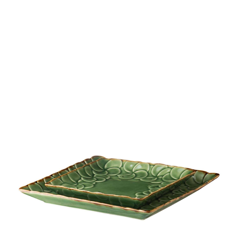 frangipani dessert plate set