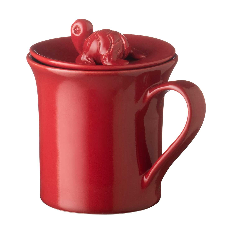 Mug with turtle lid