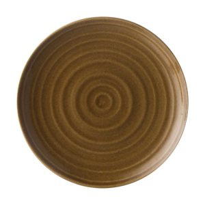 classic round dessert plate lines collection