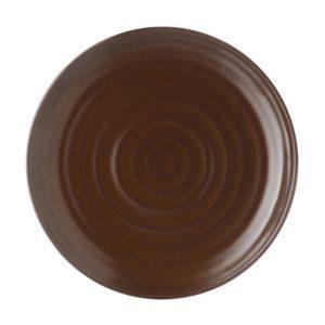 classic round dessert plate