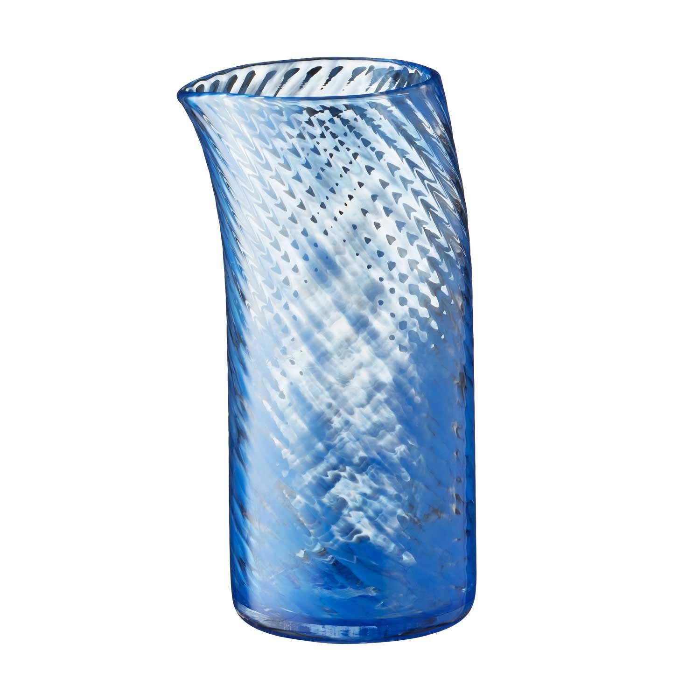 small glass water jug